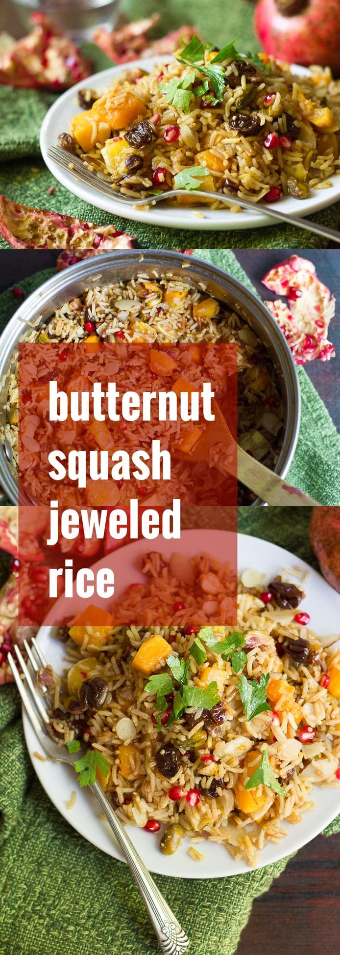 Butternut Squash Jeweled Rice