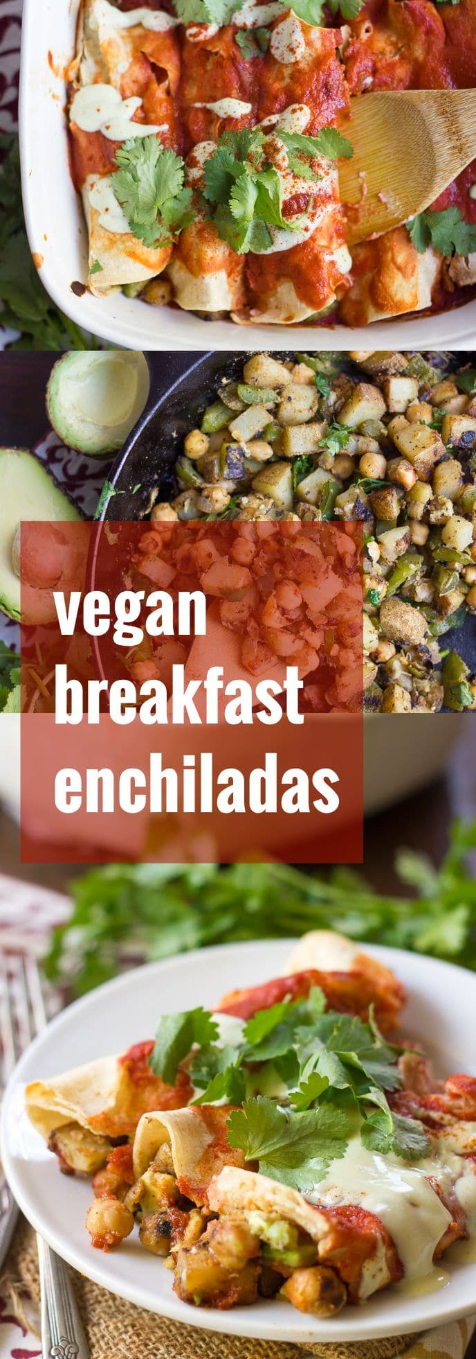 Chickpea Avocado Breakfast Enchiladas