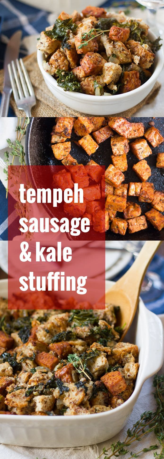 Tempeh Sausage & Kale Stuffing