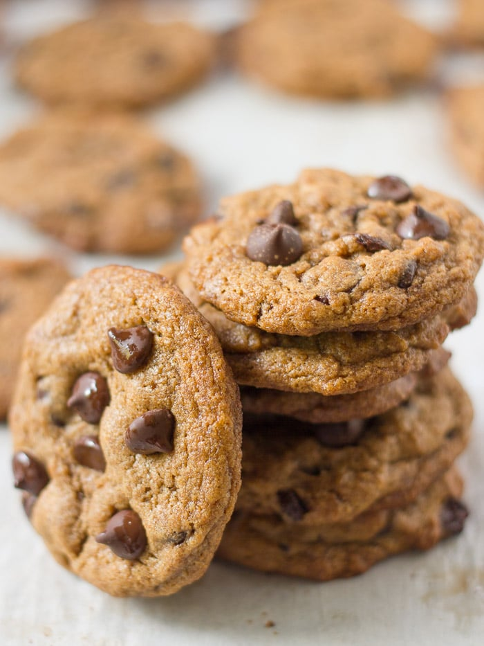 with rich dark chocolate chips, these vegan chocolate chip cookies ...