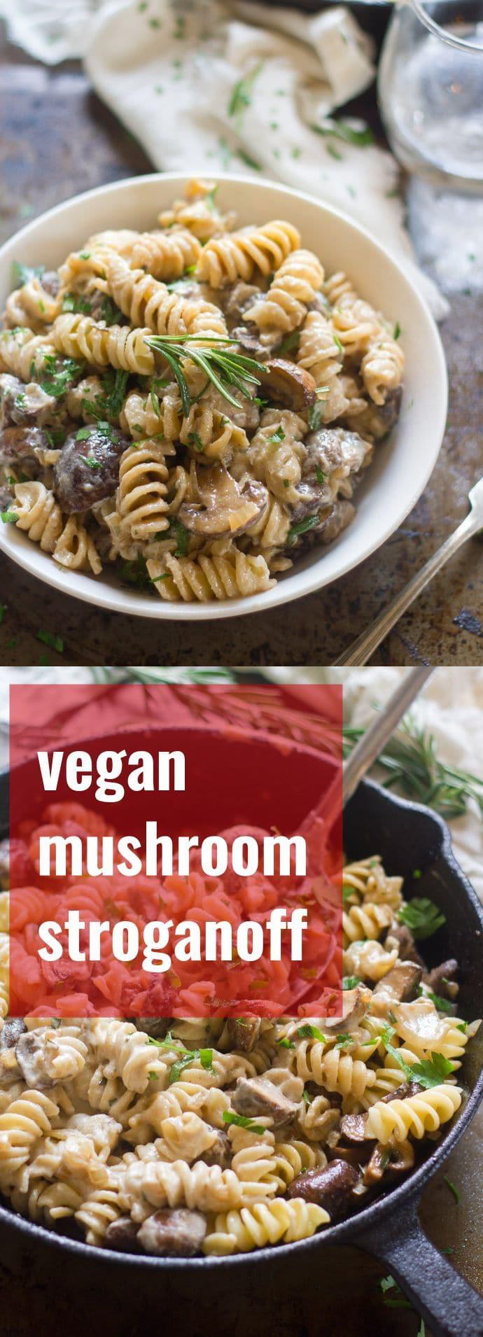 Vegan Mushroom Stroganoff