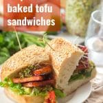 Chipotle Baked Tofu Sandwiches