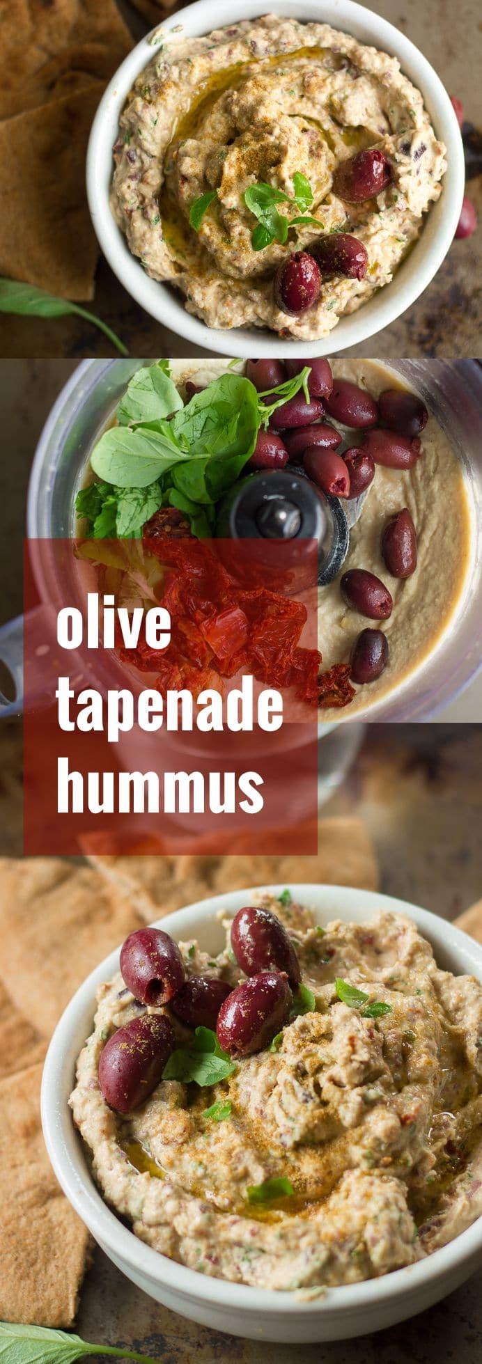 Sun-Dried Tomato & Kalamata Olive Hummus