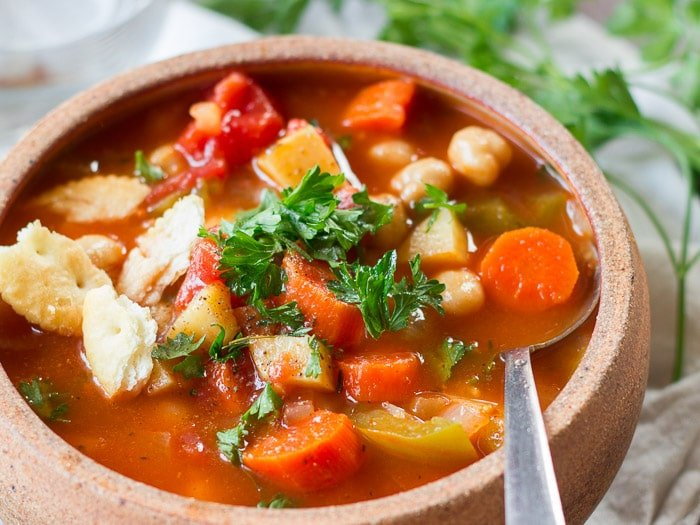 Manhattan Chickpea Chowder