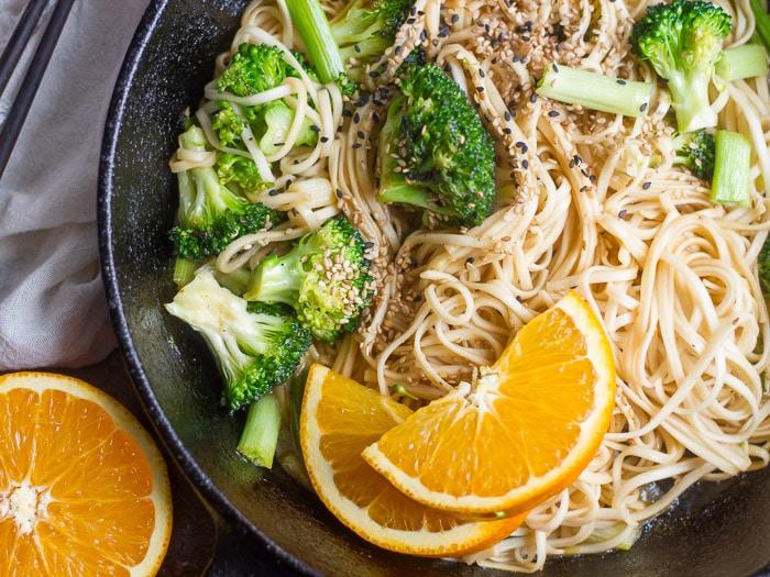 Spicy Orange Noodles