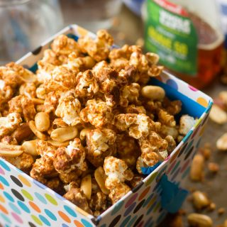 Spicy Peanut Butter Caramel Corn