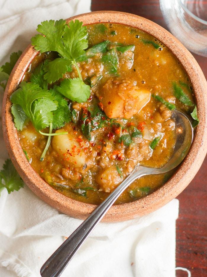 Chorizo-Spiced Lentil Stew