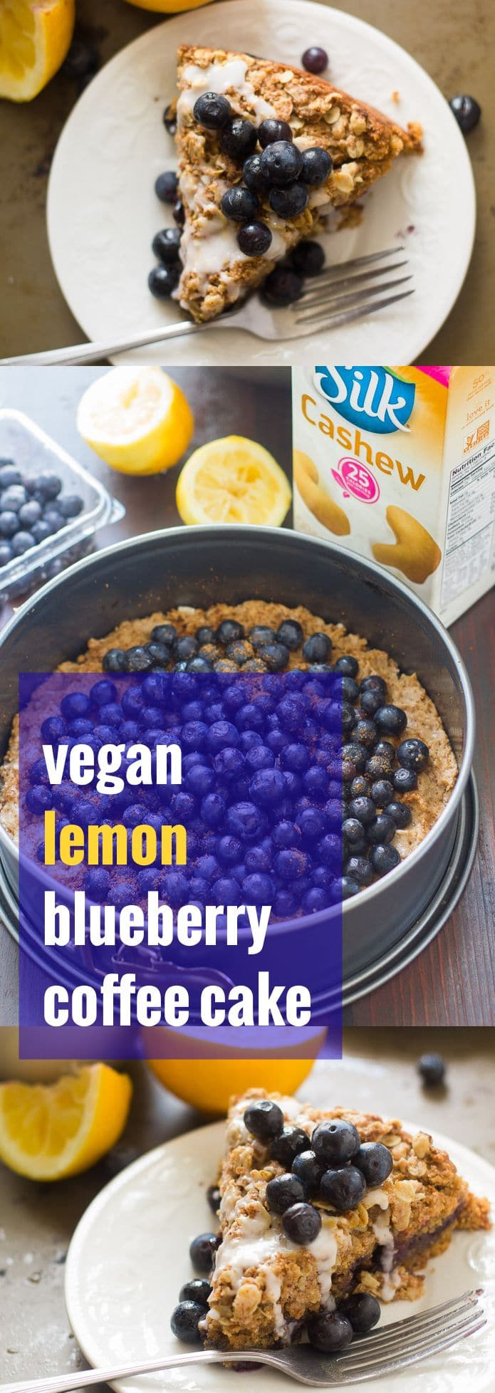 Vegan Lemon Blueberry Coffee Cake