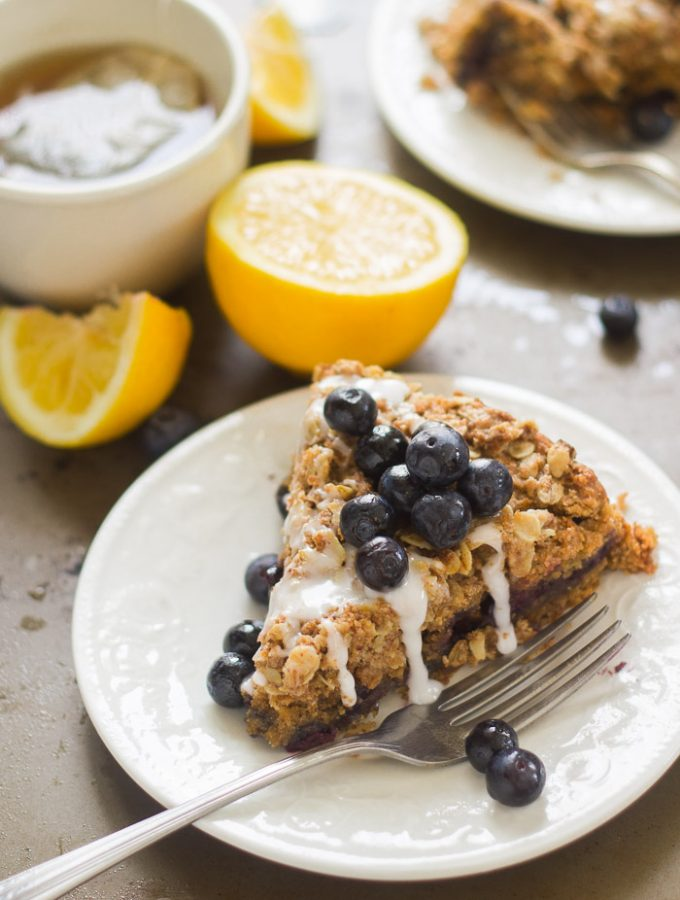 Vegan Lemon Blueberry Coffee Cake