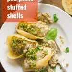 Pea Pesto Stuffed Shells