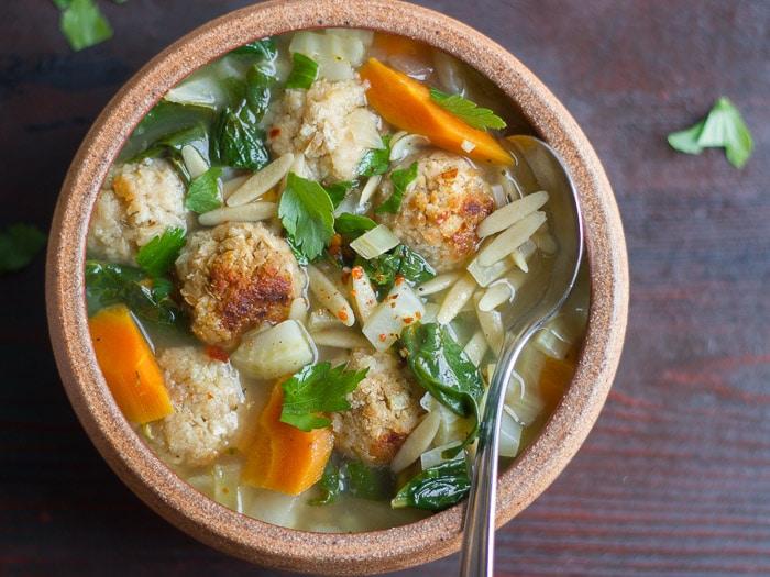 Vegan Italian Wedding Soup