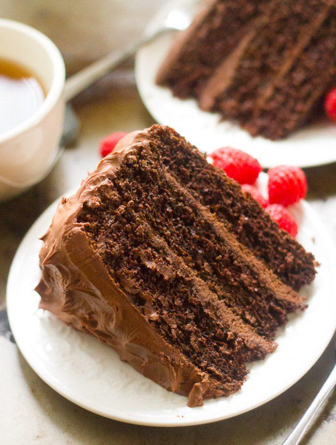 Vegan Chocolate Mocha Layer Cake