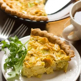 Potato Leek Vegan Quiche