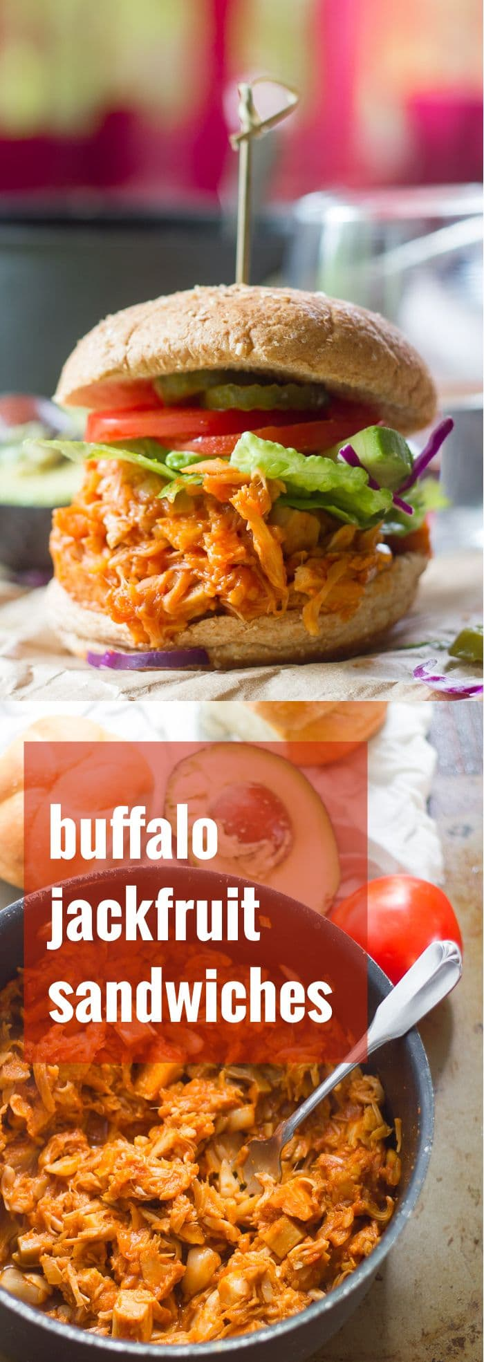 Maple Buffalo Pulled Jackfruit Sandwiches