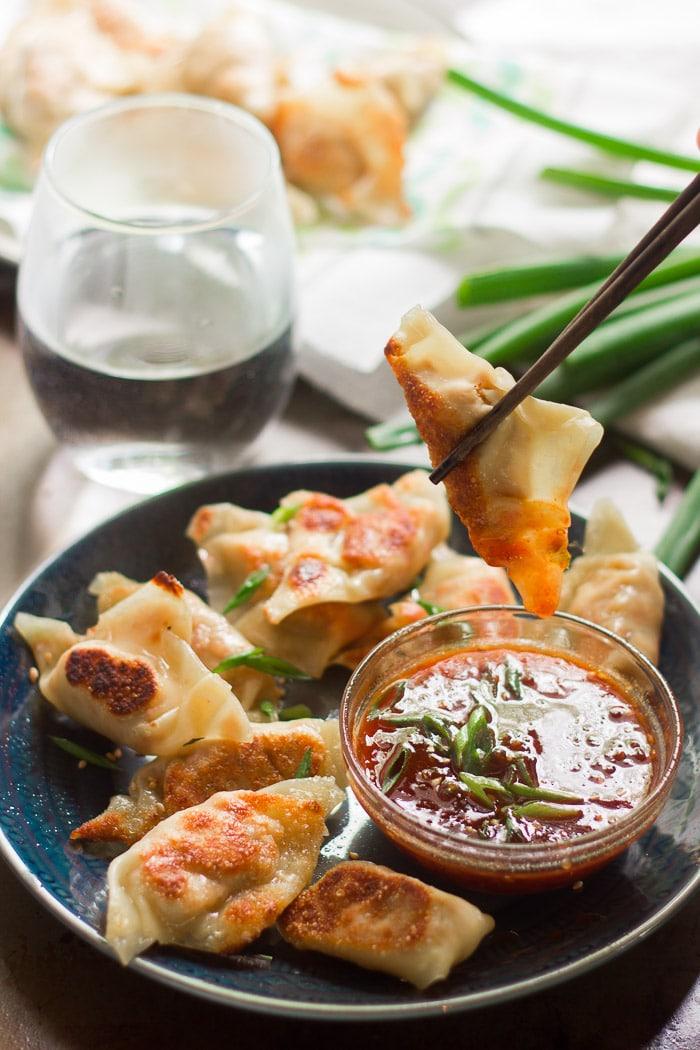 Smoky Tofu Dumplings with Sweet Chili Dipping Sauce - Connoisseurus ...