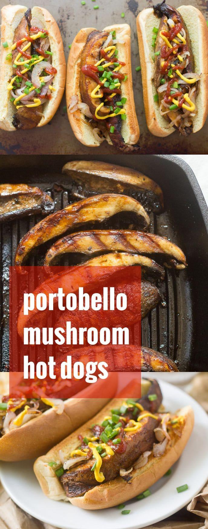 Portobello Mushroom Hot Dogs