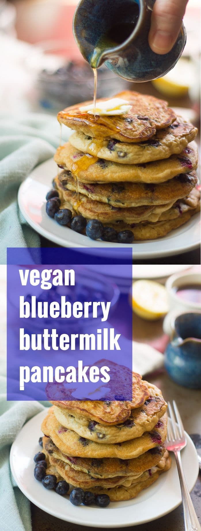 Vegan Blueberry Buttermilk Pancakes