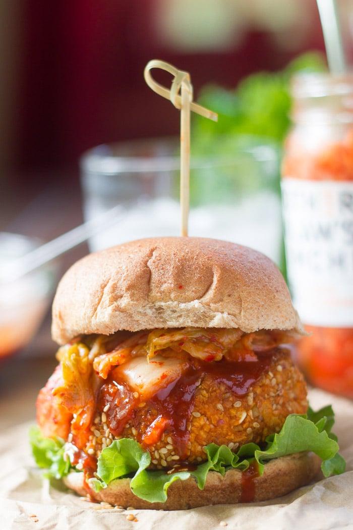 Korean Barbecue Tofu Burgers - Connoisseurus Veg