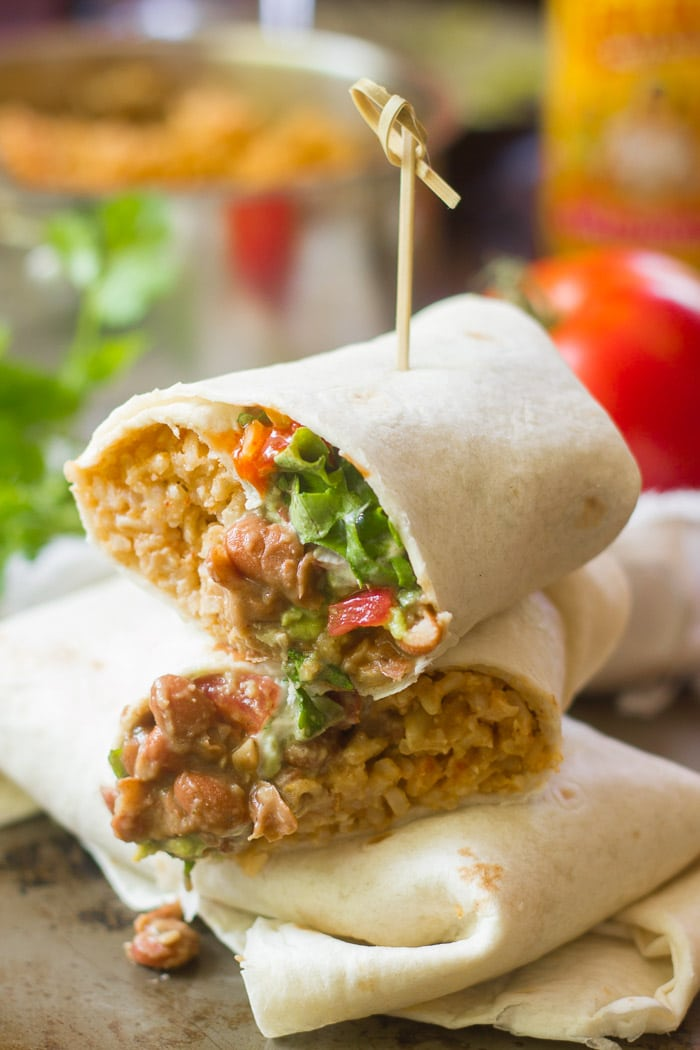 Vegan 7 Layer Burritos