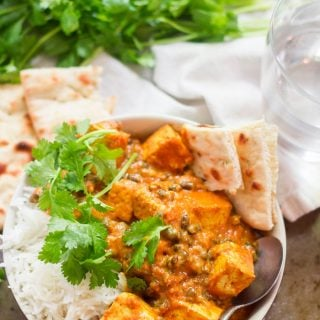 Indian Butter Tofu and Lentils
