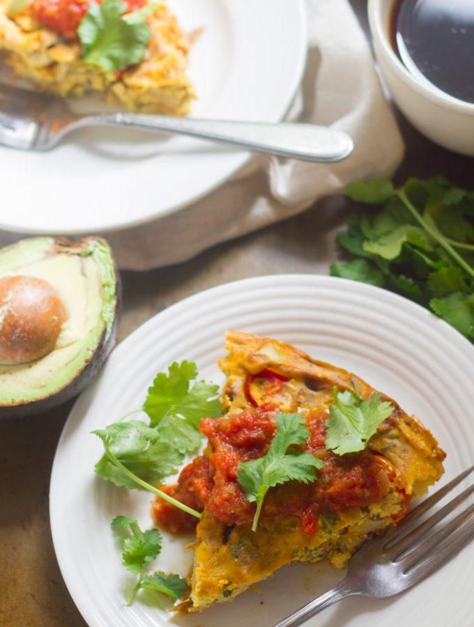 Taco-Spiced Vegan Frittata