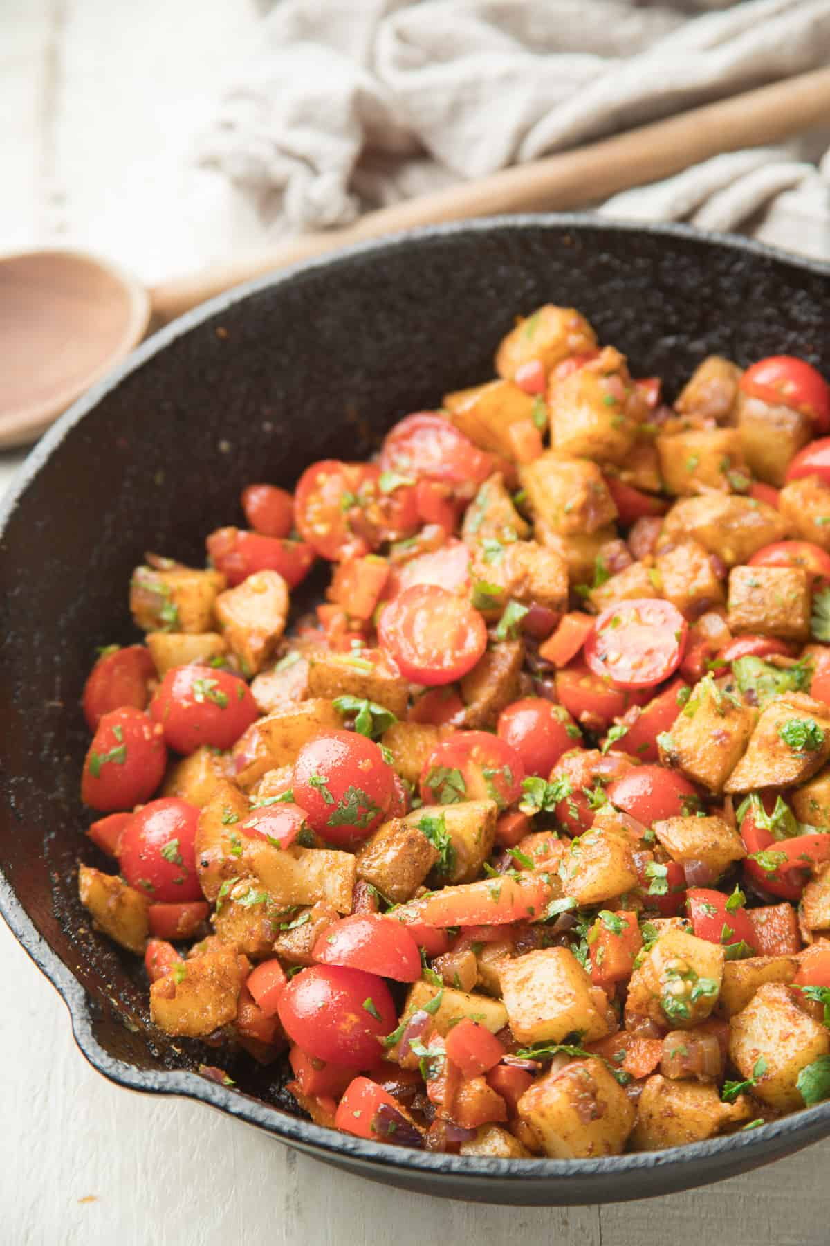 Veggies and Potatoes in a Skillet