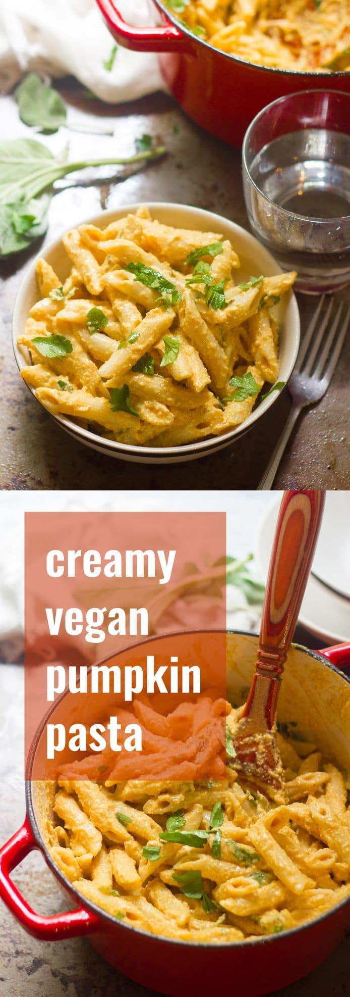 Creamy Vegan Pumpkin Pasta