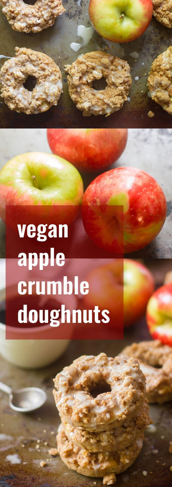 Vegan Apple Crumble Doughnuts