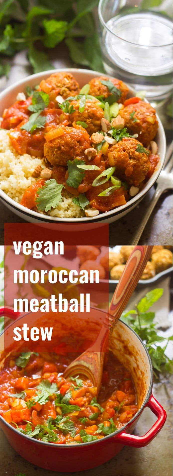 Vegan Moroccan Meatball Stew