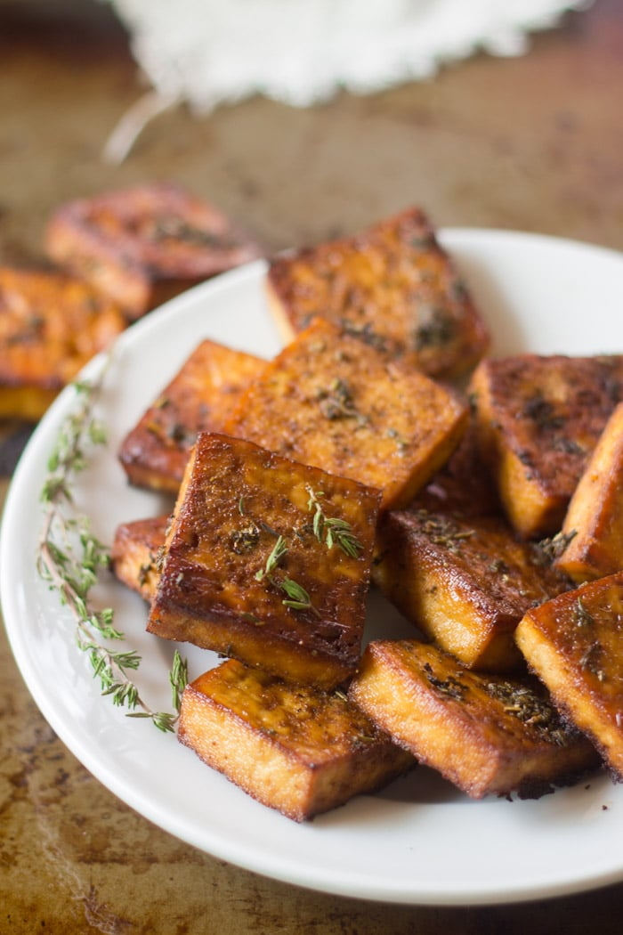 Savory Lemon & Herb Baked Tofu - Connoisseurus Veg