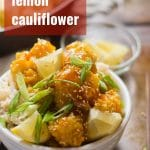 Sticky Lemon Cauliflower
