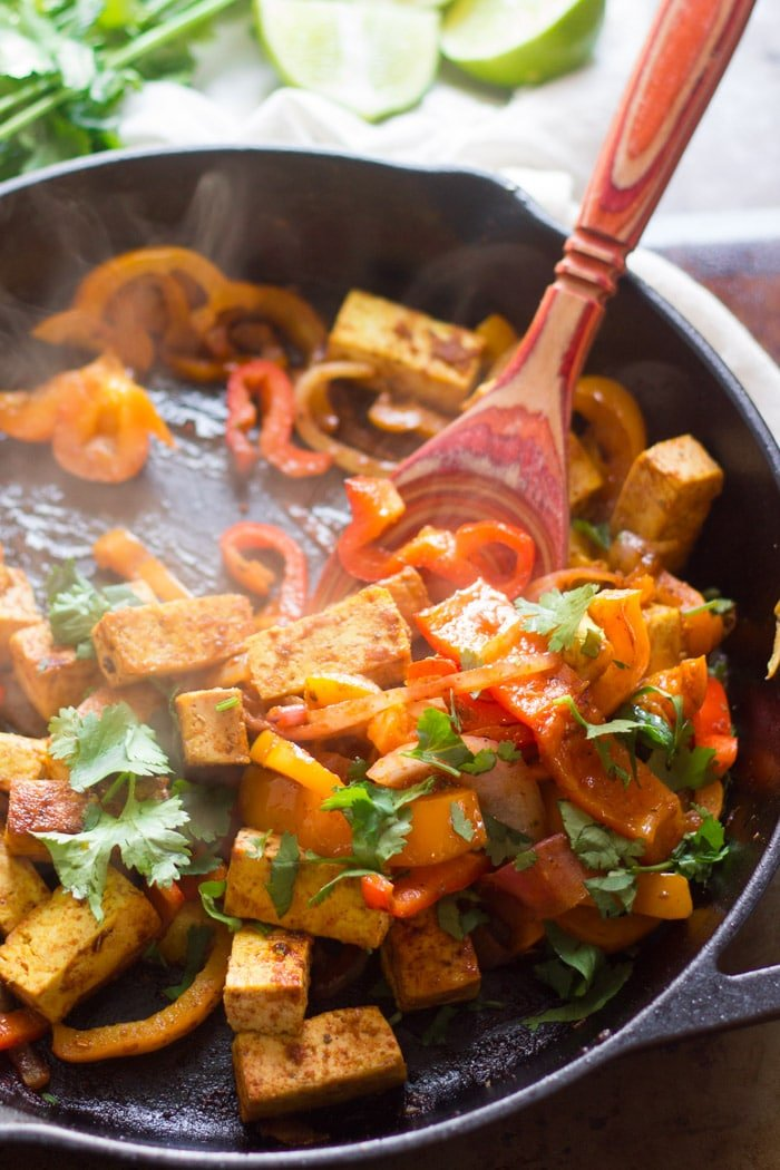 Easy Pan-Fried Tofu Fajitas