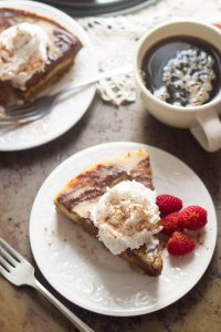 Vegan Mocha Swirl Cheesecake