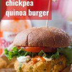 Buffalo Chickpea Quinoa Burgers