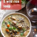 Creamy Mushroom Wild Rice Soup