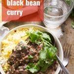Black Bean & Spinach Curry