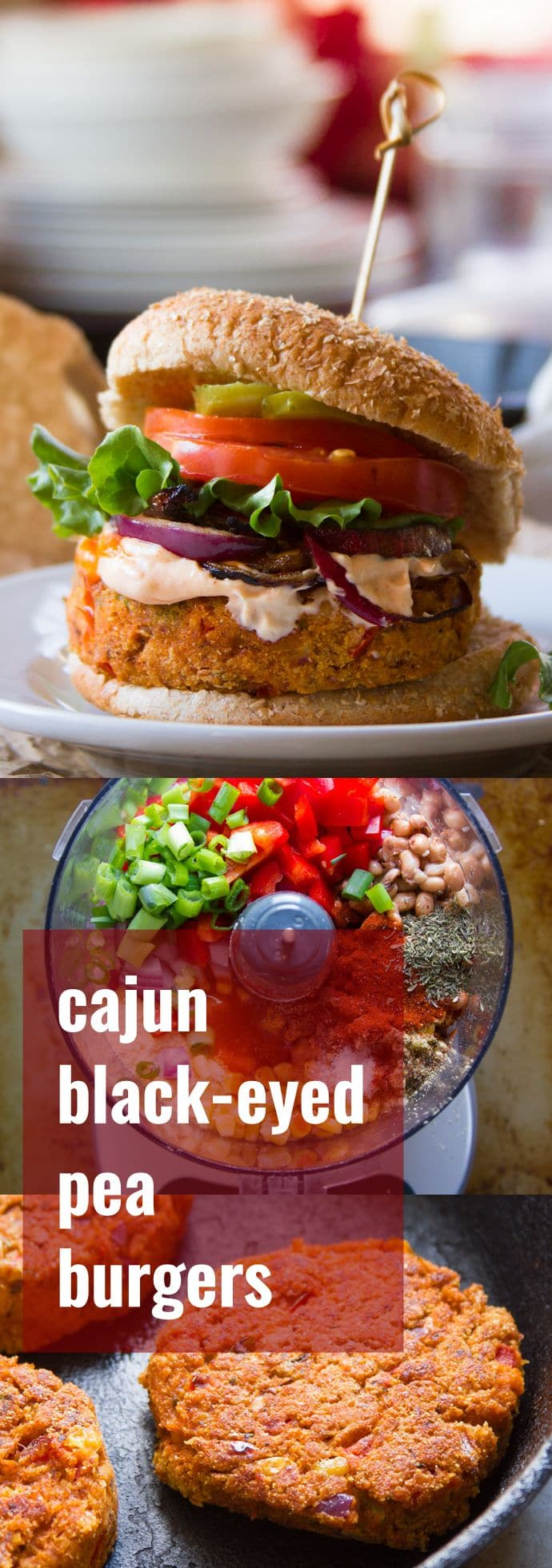 Cajun Black-Eyed Pea Burgers