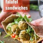 Baked Quinoa Falafel Sandwiches
