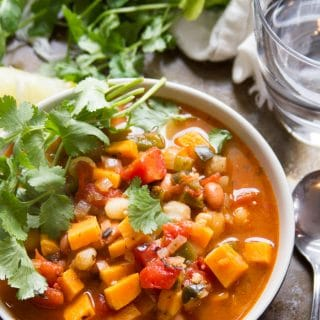 Chipotle Sweet Potato Vegan Posole