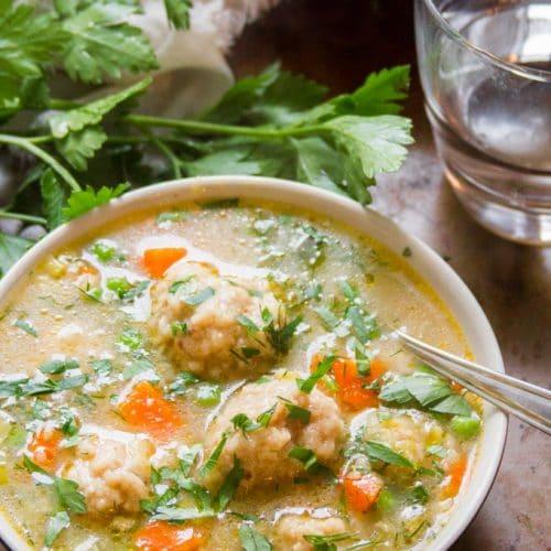 Vegan Matzo Ball Soup Connoisseurus Veg