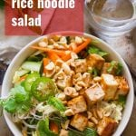 Vietnamese Rice Noodle Salad with Hoisin Glazed Tofu
