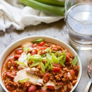 Meatless Chili con Carne (with Cauliflower Walnut Meat!)