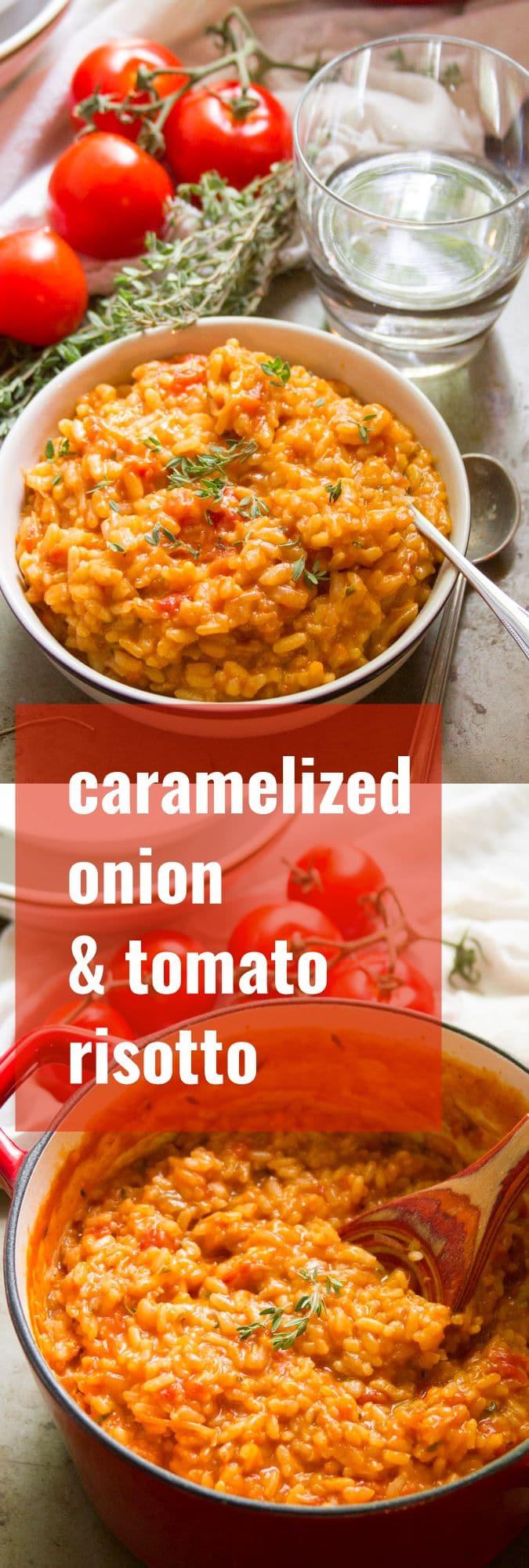 Caramelized Onion & Tomato Risotto