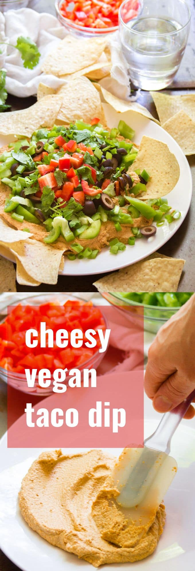 Cheesy Vegan Taco Dip