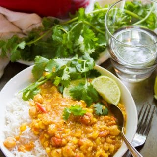 Indian-Inspired Chickpea & Summer Corn Curry