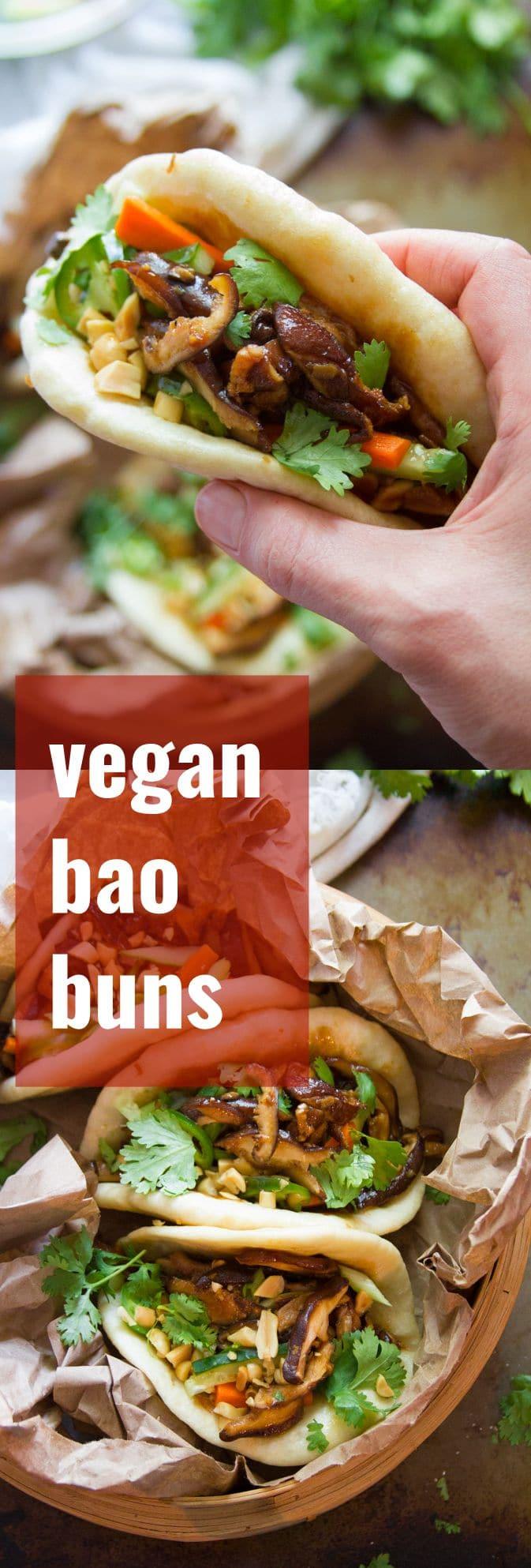 Shiitake Mushroom Vegan Bao Buns