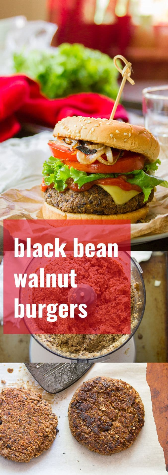 Black Bean Walnut Burgers