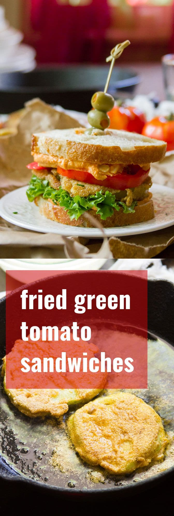 Fried Green Tomato Sandwiches with Pimento Cashew Cheese