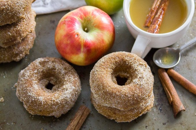 Vegan Apple Cider Doughnuts