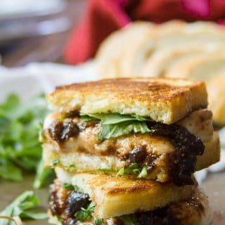 Vegan Mozzarella & Fig Jam Grilled Cheese Sandwiches